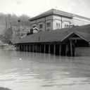 The school house under water