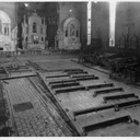 Damages to the church following the flood of 1937
